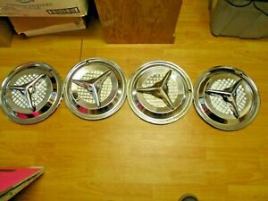 Set Of 4 15 Olds Fiesta Style Flipper Hubcaps Wheel Covers Repro Hot Rat Rod