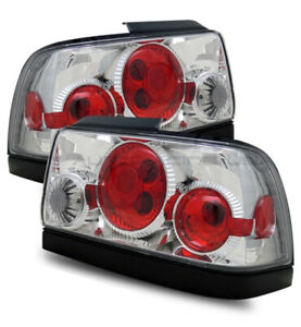 For 93 97 Toyota Corolla Clear Chrome Altezza Tail Light Rear Brake Backup Lamps