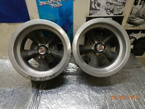 Pair 14x6 Torq Thrust Wheels 5 On 4 3 4 Chevy Camaro Ss Nova Chevelle Gto 442