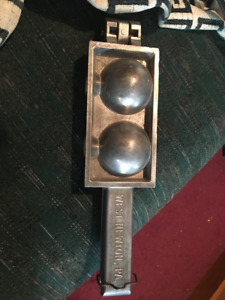 C. Palmer Mfg Cannon Ball 1 lb Sinker Molds 801 Vintage Lead Fishing Weights