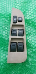 98 02 Toyota Corolla Front Driver Left Side Master Power Window Switch Tan