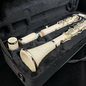 Professional Clarinet G key Clarinet Ebonite body Nickel Plated Key white