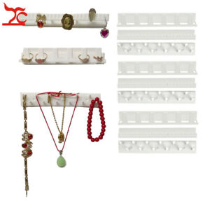 9pcs lot Wall Hanging Jewelry Display Rack Necklace Rings Earrings Keys Stand