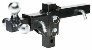 30001 Husky Towing Adjustable Tri Ball Trailer Hitch Ball Mount W 10k Gtw Max