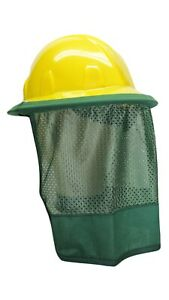 Hard Hat Neck Protector Shade Quick Dry Mesh Green