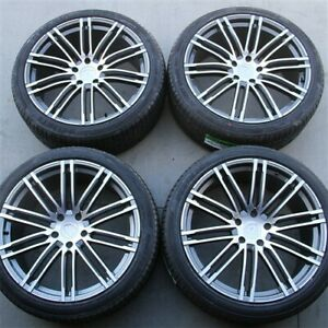 Set 4 21 21x10 5x130 Wheel Tire Package Fit Porsche Cayenne Gts Turbo S 4s