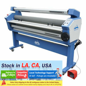 Usa 55 Full auto Wide Format Cold Laminator Heat Assisted Laminating Machine