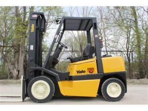 Yale Gdp080 8000 Lbs Diesel Forklift W Sideshift Solid Pneumatic 173 h Refurb