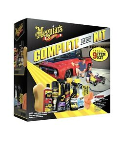 Meguiar S Car Care Kit Gift Pack 9 Piece Complete Auto Detailing Wax Clean Wipe