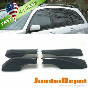 Us 4x Black Roof Rack Cover Rail End Shell Cap Replacement Fit 01 05 Toyota Rav4