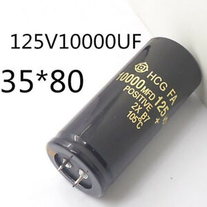 Electrolytic Capacitor 125v 10000uf 35x80mm Can Replace 120v 100v Audio Hot Hot