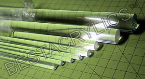 8 Pc Combo 1 8 3 16 1 4 5 16 All 3 Foot Long 2 Each Clear Acrylic Lucite Rod