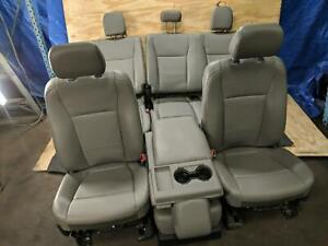 Complete Set Grey Gray Vinyl Manual Bench 40 20 40 Seats Seat Ford F150 17 2017