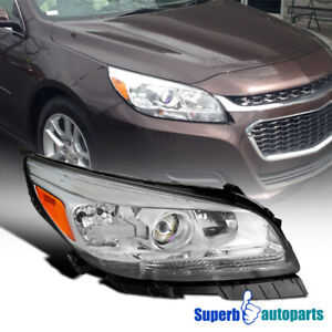 For 2013 2015 Chevy Malibu Halogen Projector Headlight Passenger Right Side