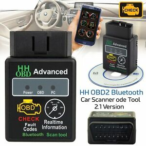 Bluetooth Obd2 Scanner Code Reader Automotive Diagnostic Tool Car O