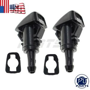 2pcs New Windshield Washer Nozzle Spray Jet For Gm 15878745 Replace 7133 232314b