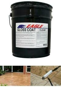 New 5 Gal Gloss Coat Clear Wet Look Solvent based Acrylic Concrete Sealer