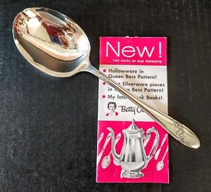Oneida Queen Bess Ii Tudor Silverplate Casserole Serving Spoon W Catalog Flyer