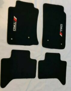 Fit 05 10 Toyota Tacoma Black Floor Mats Carpet Front Rear W Emblem
