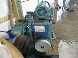 Boc Edwards Vacuum Pump With Blower And Motor Turns Good 822120c Used