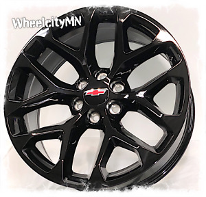 20 Inch Gloss Black 2018 Snowflake Chevy Silverado Ltz Oe Replica Wheels 6x5 5