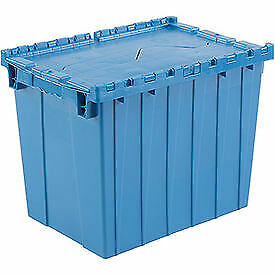 Plastic Shipping Container Hinged Lid Storage Dc2115 17 21 7 8 X 15 1 4 X
