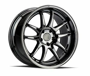 Set Of 4 New Aodhan Wheels Ds02 18x9 5 5x114 3 22 Black Vacuum