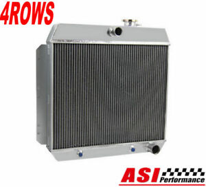 Asi 4 Row Aluminum Radiator For 1949 1954 53 Chevrolet Bel Air Styleline Deluxe
