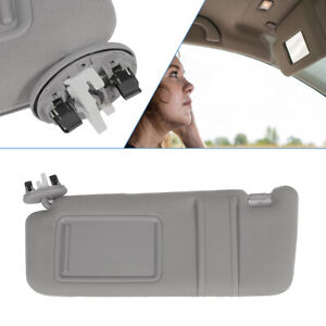 Driver Side Sun Visor Fits 2007 2011 Toyota Camry With Sunroof And Light Gray