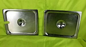 Vollrath Stainless Steel 1 2 Size Steam Table Pan Lids Lot Of 2