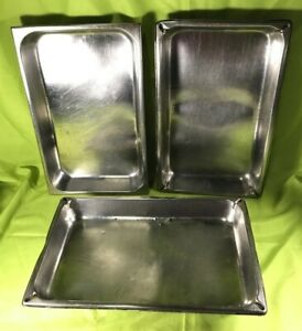 Vollrath duraware Stainless Steel Full Size Steam Table Pans 2 5 Deep Lot Of 3