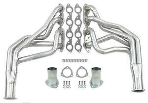 New 68 87 Big Block Chevy Truck Suv Long Tube Headers Bbc 396 502 Polished Stain