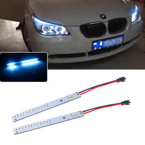 2x Ice Blue Led Strips Eyebrow Headlight Mod For 2008 10 Bmw E60 Lci M5 5 Series