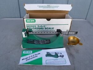 RCBS Model 5-0-5 505 Ohaus Reloading Powder Balance Scale W Box