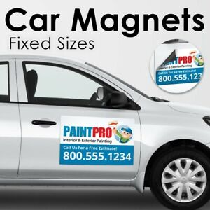 Custom Car Magnets Magnetic Auto Truck Signs 2 18x24