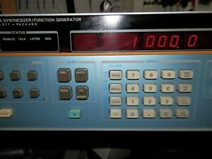 Hp Agilent 3325a Synthesizer Function Generator W Opt 01