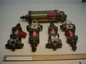 Schrader Bellows Lot Of 5 Cylinders With Built in Valve