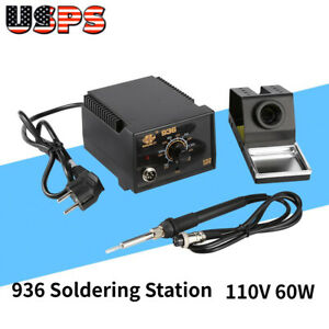 110v 60w Welding Soldering Station 936 Power Iron Frequency Change Rework Us