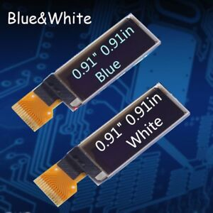 1 20pcs 0 91inch White Blue Display Module 128x32 Oled Ssd1306 Iic Interface Lot