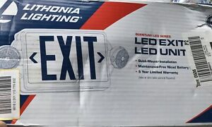 Lithonia Lighting 295179 Red Led Emergency Exit Sign And Light