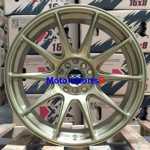 Xxr 527 17 X 7 5 40 Gold Concave Rims Wheels 5x114 3 06 15 16 Honda Civic Si Ex