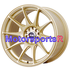 17 Xxr 527 Gold Staggered Rims Wheels Concave 5x4 5 94 98 99 04 Ford Mustang Gt