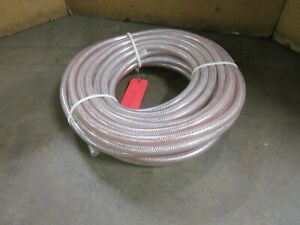 Nylobrade 5 8 X 906 X 100 ft Clear Braid Reinforced Pvc Tubing Hose 200psi