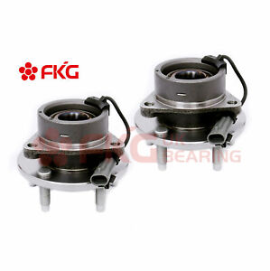 Pair Front Wheel Hub Bearing For 2004 2011 Chevy Cobalt Hhr G5 Ion W Abs 513206