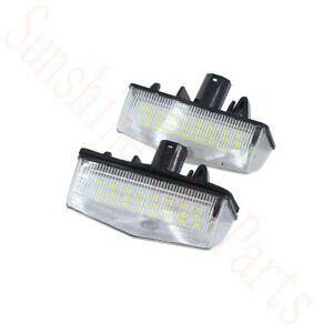 2x For Toyota Rav4 2014 16 Car White License Plate Light Lamp Led Frame Replace