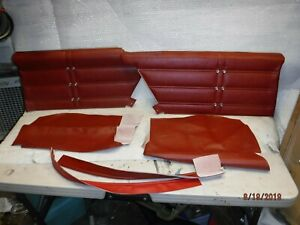 New Blem 1963 Impala Ss standard 2 door Coupe Red Assembled Rear Side Panels 63