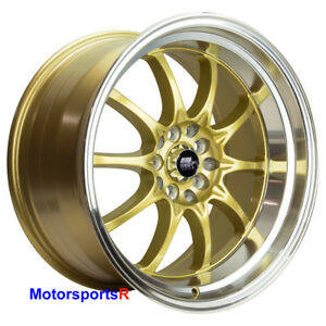 Mst Mt11 17 X 9 20 Gold Deep Lip Rims Wheels 5x114 3 Stance Toyota Camry 86 860