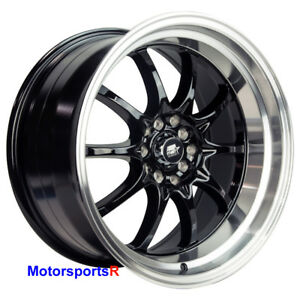 Mst Mt11 17 X 9 20 Black Deep Dish Machine Lip Rims Wheels 5x114 3 Stance 5x4 5