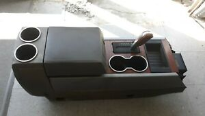 08 Ford Expedition Center Console Shifter Gear Selector Woodgrain Bezel