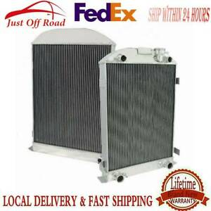 4row All Aluminum Radiator For 1935 1936 Ford Model A Flathead Engine Height 28
